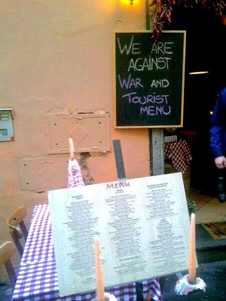 1946: War And Tourist Menu