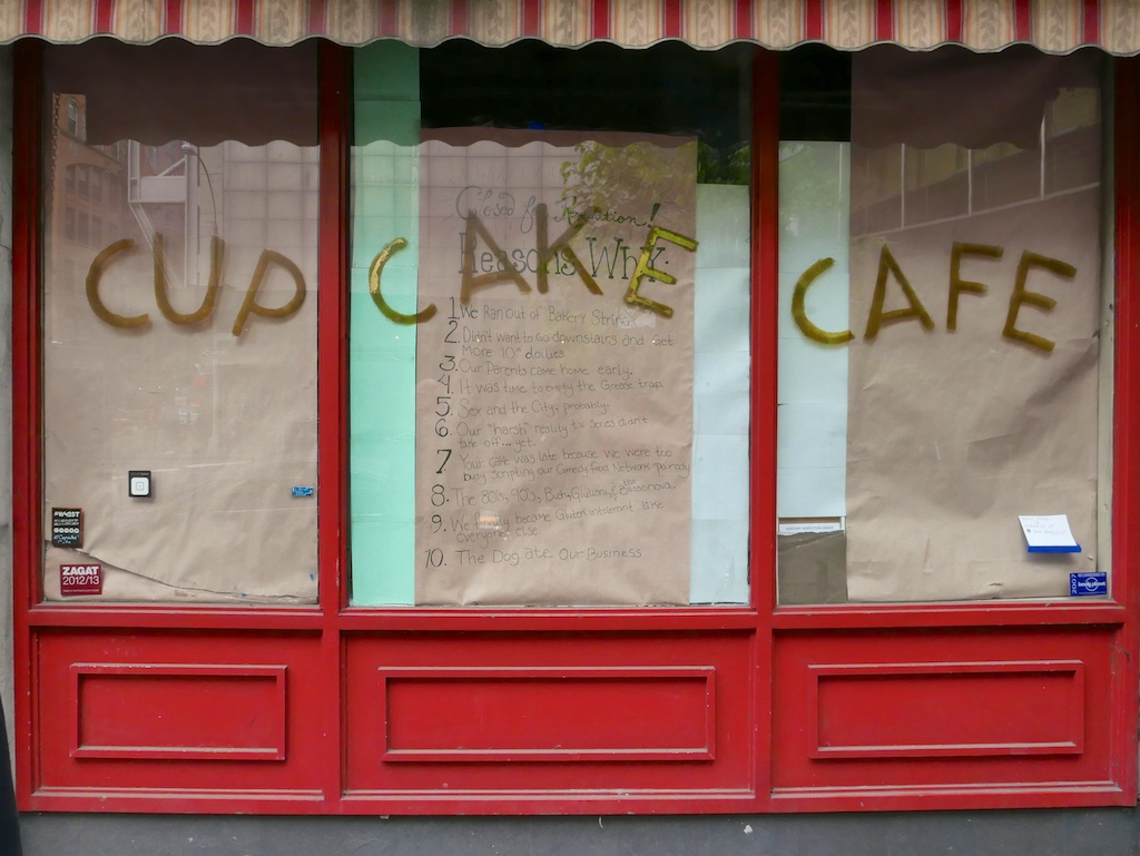 closed Cake shop