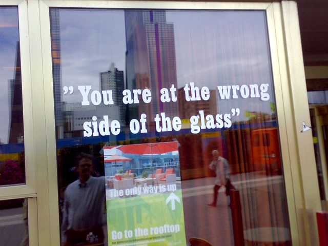 Wrong Side Off Glass