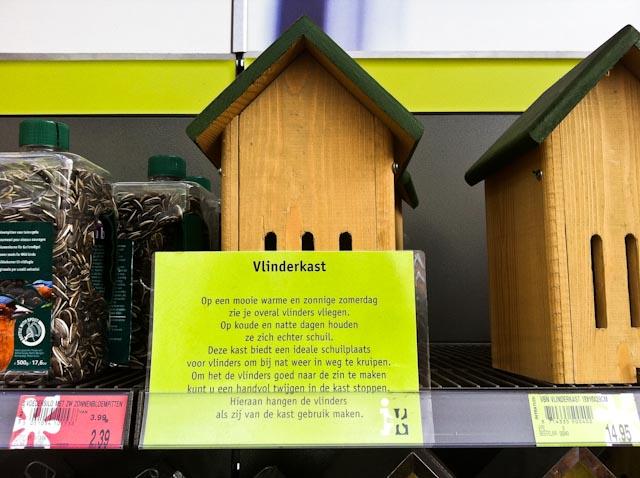 Lieveheersbeesthuisje Vlinderkast