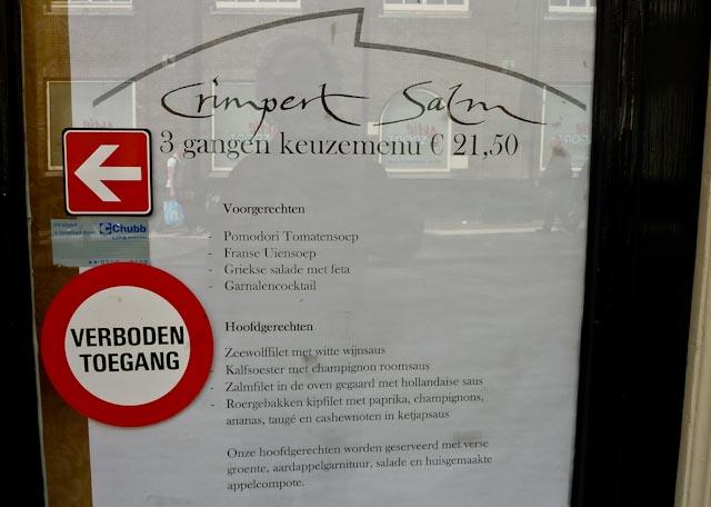 Verboden Toegang Restaurant