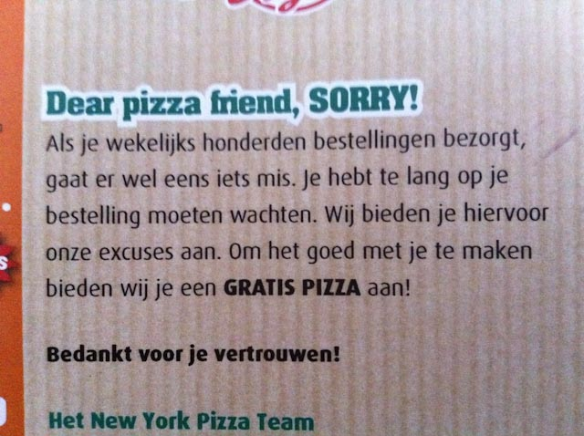 Gratis Pizza