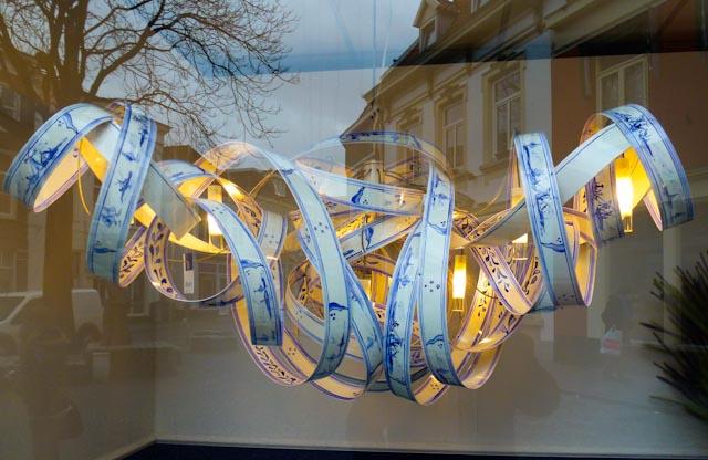 Delftsblauwe Krullelamp