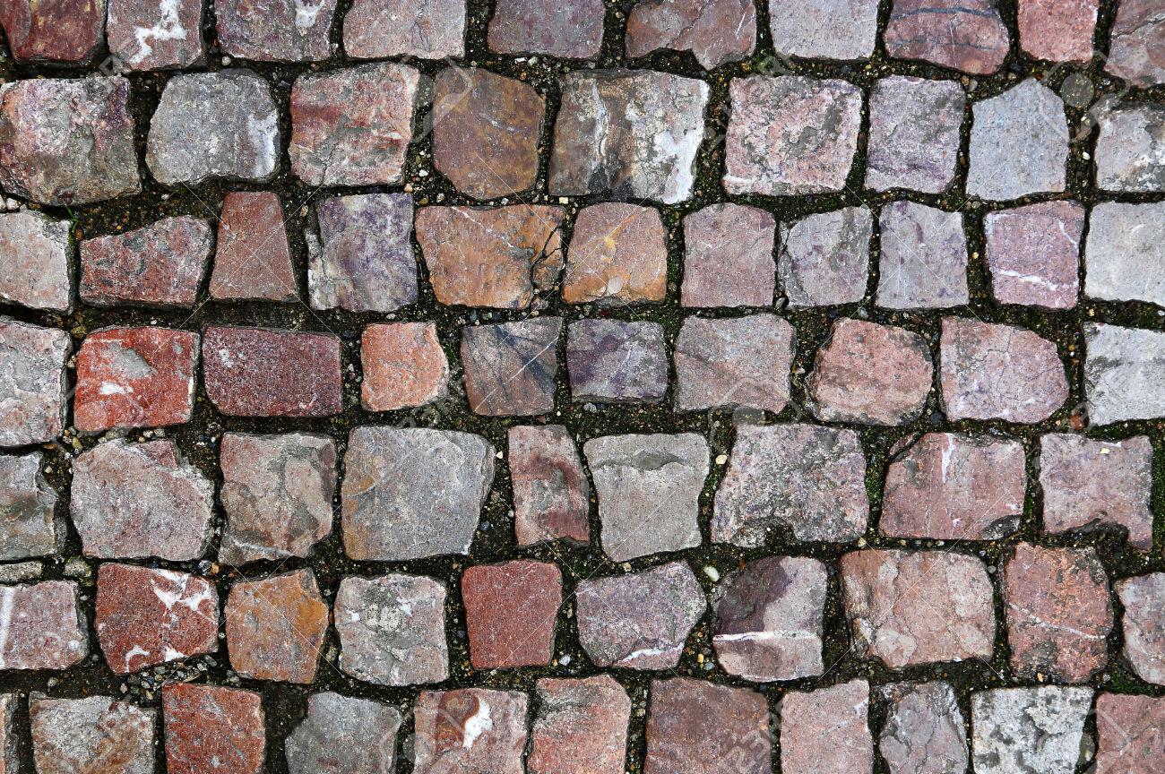 Paving stones street texture