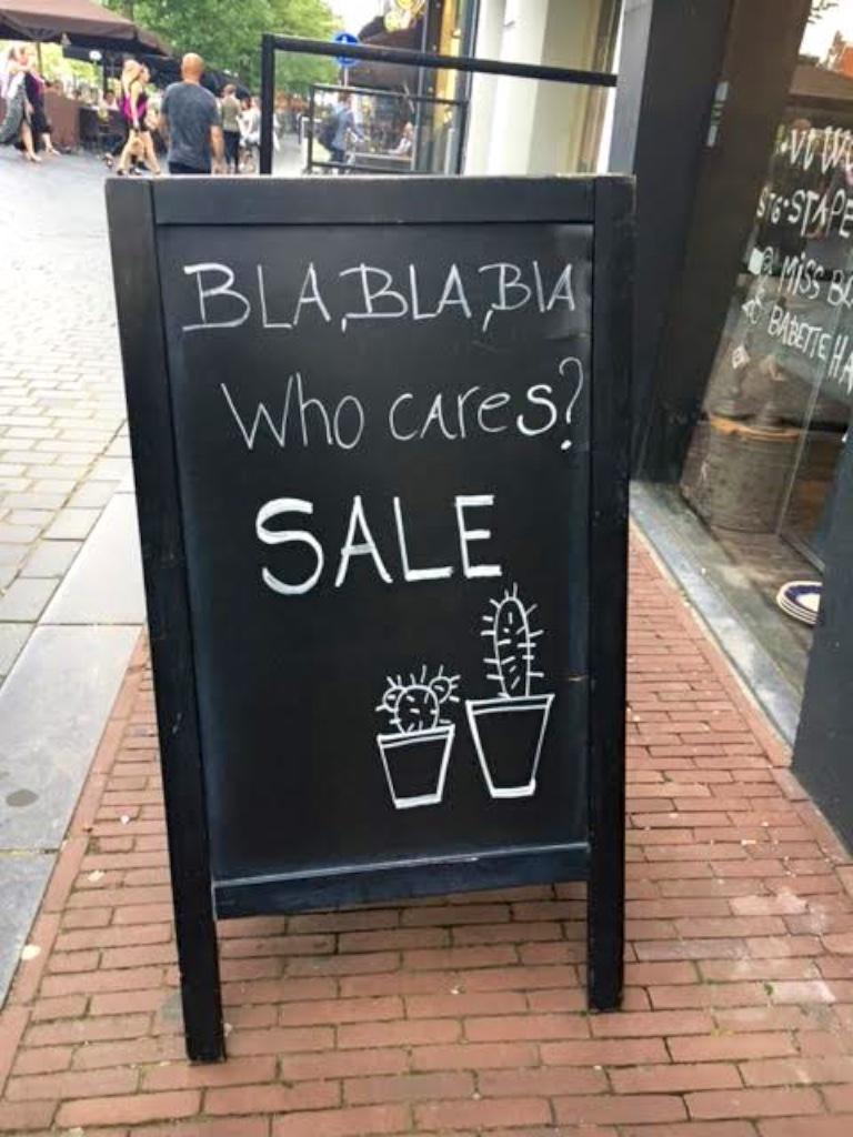 3238: Bla Bla Bla… Sale!
