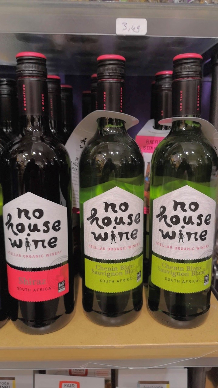 3406: NO HOUSE WINE